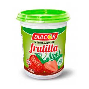 Mermelada de frutilla 420g Light Dulcor.